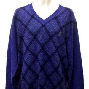 New Payne Stewart Golf Sweater Purple Argyle